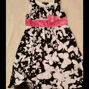 Pink, Black & White Butterfly Dress